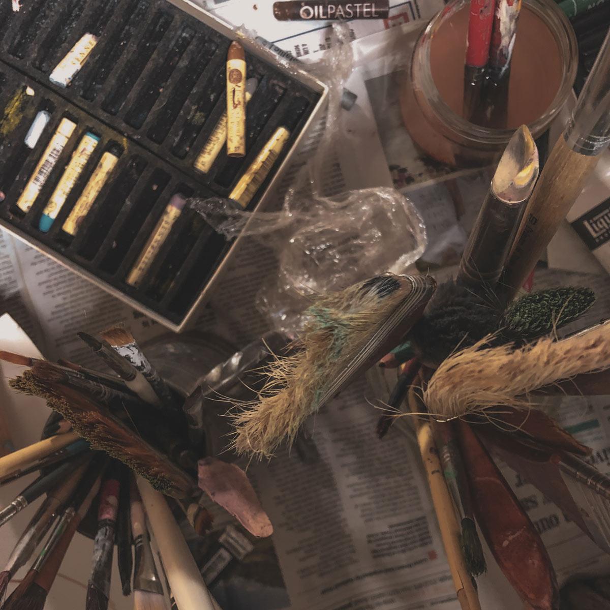 Katarzyna Koch studio big brush