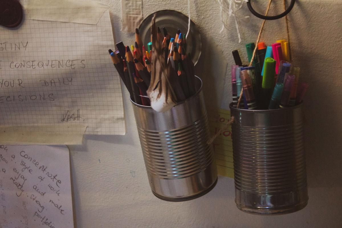 Katarzyna Koch studio pencils
