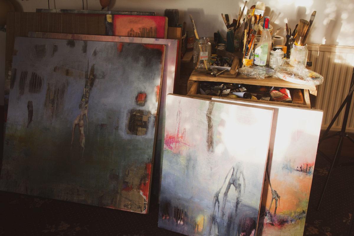 Katarzyna Koch studio paintings