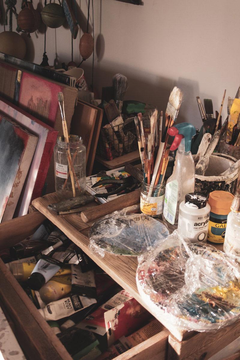 Katarzyna Koch studio - brushes